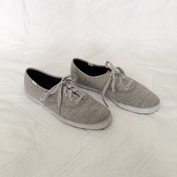 d6cb500b3 Keds Shoes - Gray Quilted Jersey Champion Keds